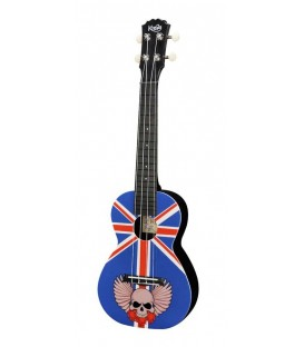 UKELELE CONCIERTO KORALA POLYCARBONATE SERIES 08 / UNION JACK WITH SKULL