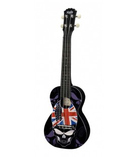 UKELELE CONCIERTO KORALA POLYCARBONATE SERIES 09 / SKULL WITH UNION JACK HAT