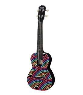 UKELELE CONCIERTO KORALA POLYCARBONATE SERIES 17 / RAINBOW OF HEARTS