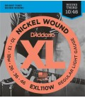 SET CUERDAS D´ADDARIO XL NICKEL ROUND WOUND / 010 - 046