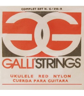 SET CUERDAS GALLI STRINGS G216R / RED NYLON / UKELELE SOPRANO