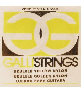 SET CUERDAS GALLI STRINGS G216Y / YELLOW NYLON / UKELELE SOPRANO
