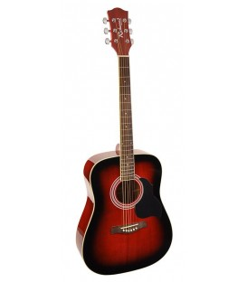 RICHWOOD RD-12-SB / DREADNOUGHT / CLAVIJERO DIE CAST / ROJO SUNBURST