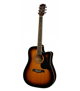 RICHWOOD RD-12-CESB / DREADNOUGHT / EQ ACTIVA / CLAVIJERO DIE CAST / SUNBURST