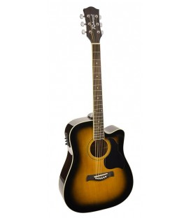 RICHWOOD RD-12-CEBS / DREADNOUGHT / EQ ACTIVA / CLAVIJERO DIE CAST / MARRÓN SUNBURST